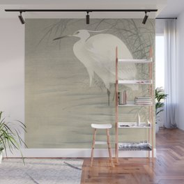 Little egret - Ohara Koson (1900-1930) Wall Mural