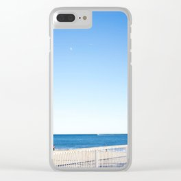 Coney Island blues Clear iPhone Case