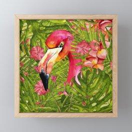 Flamingo in Jungle Framed Mini Art Print