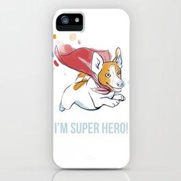 Super Hero dog iPhone Case