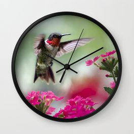 Ruby Garden Jewel Wall Clock