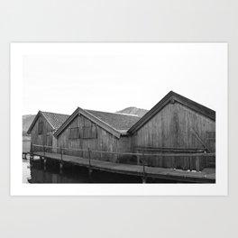 Boathouse No.1 Art Print