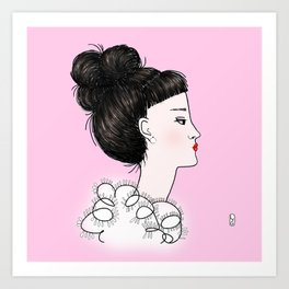 cuty pink Art Print