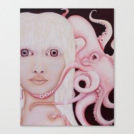 Albino Squid Canvas Print