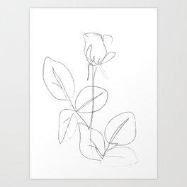 Minimal Line Drawing 4 Art Print