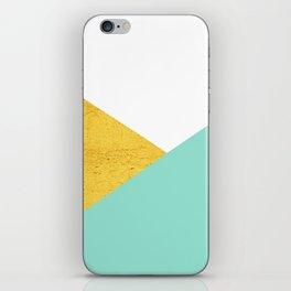 Gold & Aqua Blue Geometry iPhone Skin