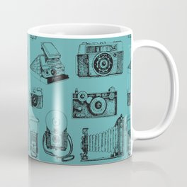 Camera Collection- Turquoise Coffee Mug