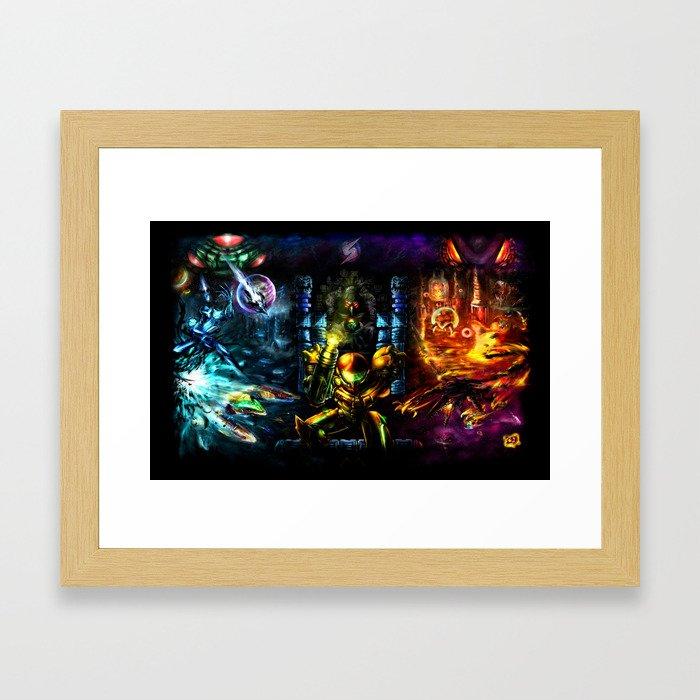 Metroid: 25 Years Framed Art Print