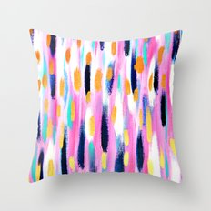 Pink And Navy Abstract Throw Pillow