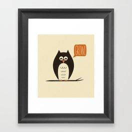 An Owl With a Growl Framed Art Print