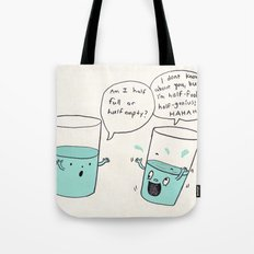 another optimistic glass Tote Bag
