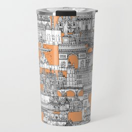 Paris toile cantaloupe Travel Mug