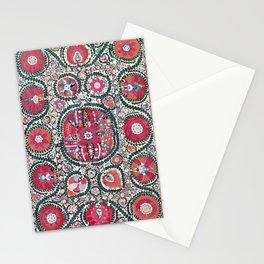 Large Medallion Bokhara Suzani  Uzbekistan Embroidery Print Stationery Cards