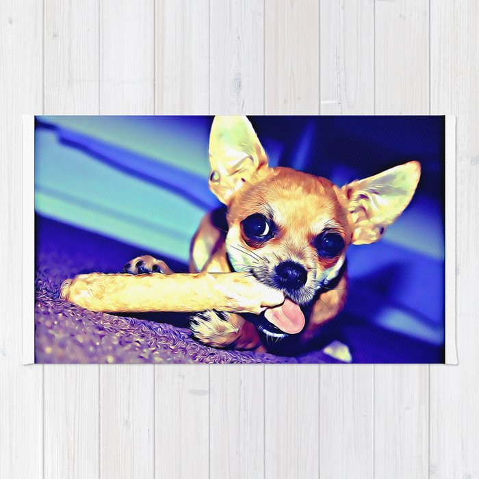 Archie The Chihuahua Rug