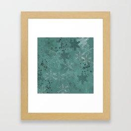 Snowflake Chrismas design Framed Art Print