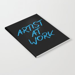 Artist at Work (blue) Notebook