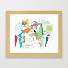 L-eyes Framed Art Print