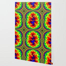 Psychedelic Mandelcross Trippy Fractal Art Print Wallpaper