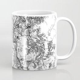 Kuala Lumpur White Map Coffee Mug