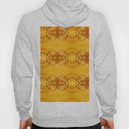 Golden Hibiscus Abstract Pattern Hoody