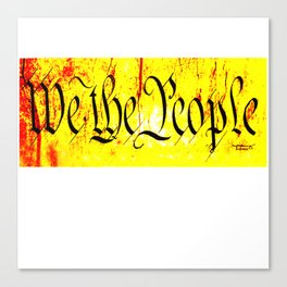 We The People jGibney The MUSEUM Society6 Gifts Canvas Print