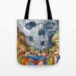 Rubino Vintage Skull Garden Rise Tote Bag