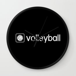 Volleyball (Grey) Wall Clock