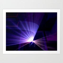 Violet laser Art Print