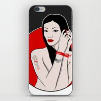 asia iPhone & iPod Skins featuring girl asia by Egudin