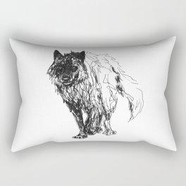 Dark Wolf Rectangular Pillow