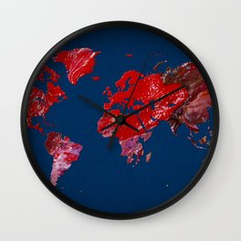 World Map 4 Wall Clock