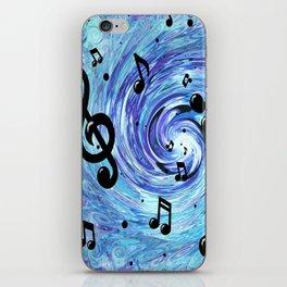 Musical Blue iPhone Skin