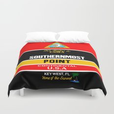 Southern Most Point, Key West, Florida/サザン・モスト・ポイント Duvet Cover