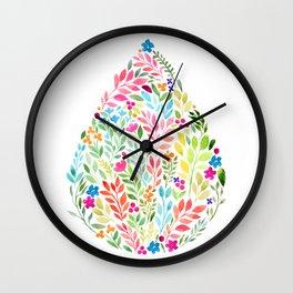 Flower Drop Wall Clock