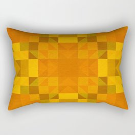 julia - autumnal orange yellow geometric diamond pattern Rectangular Pillow