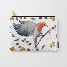 Flying Bird in Leaves Carry-All Pouch