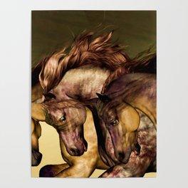HORSES-Gunmetal Poster