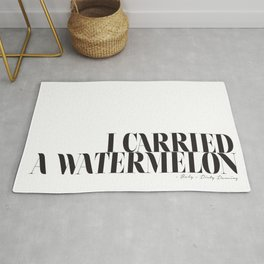I carried a watermelon - Dirty Dancing Quote Rug