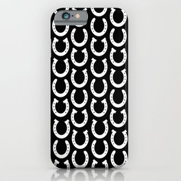 White Horseshoes iPhone Case