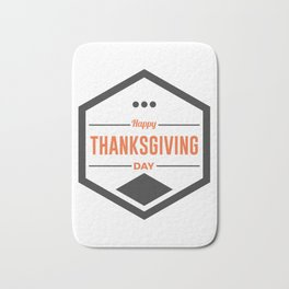 Happy Thanksgiving Day Design Bath Mat