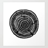 tree rings Art Prints featuring Tree Rings by Irene Leon