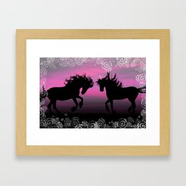 Two Silhouettes Framed Art Print