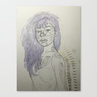 leah flores Canvas Prints featuring Leah by Jessi