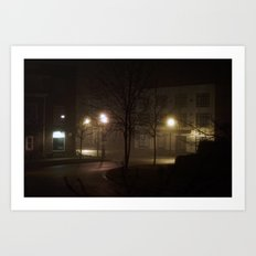 Late Night Misty Evening Art Print