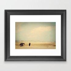 Bushiribana Horses At Play Framed Art Print