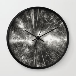 Bamboo Forest (Black and white) Wall Clock