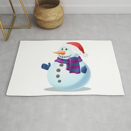 Snowman in Winter Rug