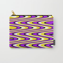 Purple gold white and black slur Carry-All Pouch