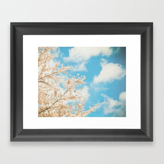 Cotton Candy Pink Framed Art Print