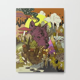Zen Wolf Metal Print